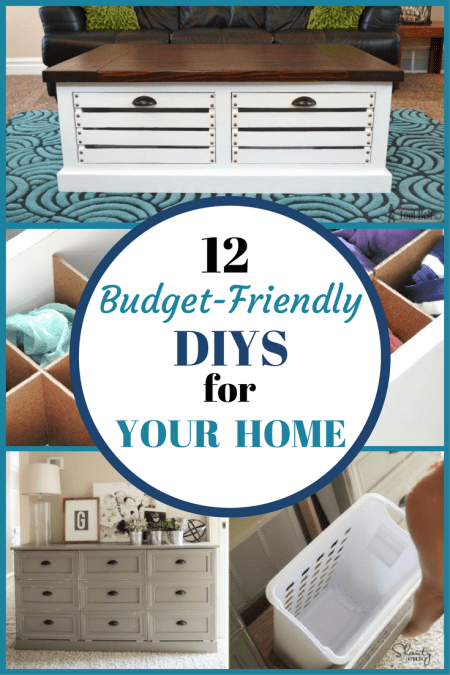 Here are 12 budget friendly DIYs to organize your home that won't break the bank