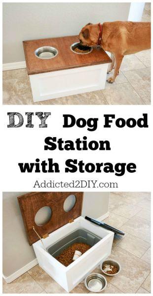 DIY-Dog-Food-Station-with-Storage