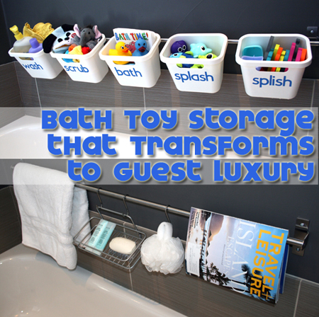bath toy storage to guest luxury