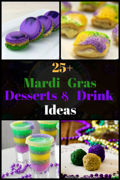 Here are 25 mardi gras dessert and drink ideas that are perfect for your next party