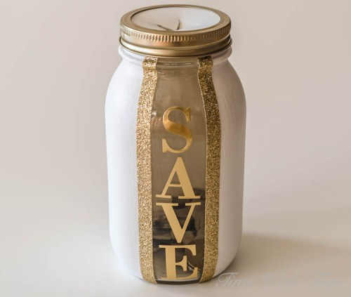 diy money saving jar