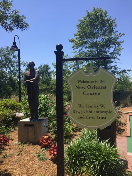 City Park putt putt course in New Orleans is a great date night idea for couples. Become a kid again as you battle each other for the best score, all while learning about New Orleans.