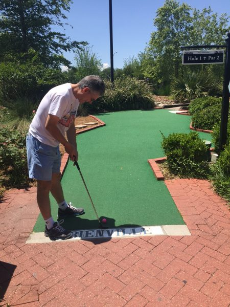 city park putt putt in New Orleans has two different course that explore the best of New Orleans and Louisiana. Makes a great date idea!