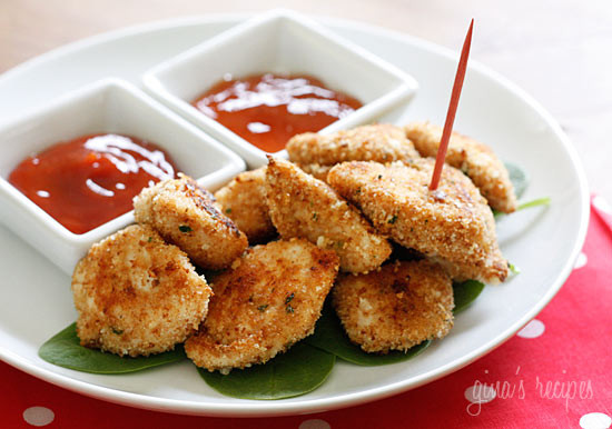 healthy-baked-chicken-nuggets from skinny taste
