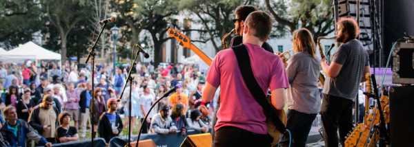 wednesdays at the square in new orleans is a great event from mid march through may. It offers great food, drink and live music.