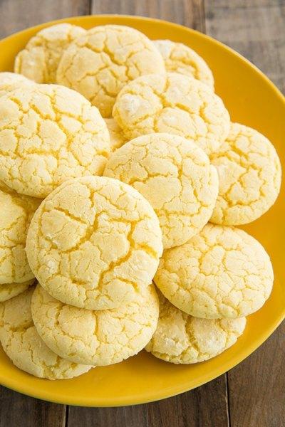 lemon crinkle cookies from cooking classy