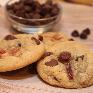 candied bacon chocolate chip cookies are nice surprise for a tasty cookie! With the light smokiness of bacon with all the sweetness of a cookie, this recipe will surely satisfy your sweet tooth cravings.