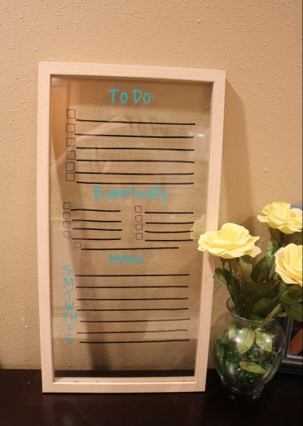 The easy DIY to do list and meal planning board. Perfect addition to your house to keep you focused and on track with goals