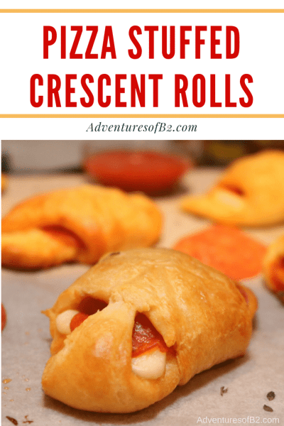pizza stuffed crescent rolls are simple, delicious and kid friendly. Whip them up in 20 minutes or less for a great snack or appetizer