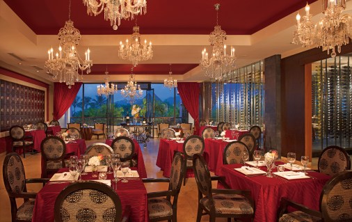 Bordeaux is a fancy french restaurant open to adults only. Enjoy some exquisite food while having a romantic dinner date at the Dreams Delight Playa Bonita resort in Panama City, Panama.