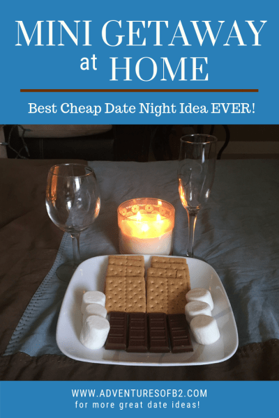 The perfect at home date night idea. A mini getaway in the comforts of your own home. Cheap date ideas to give you and your partner some quality time and a break from the norm.
