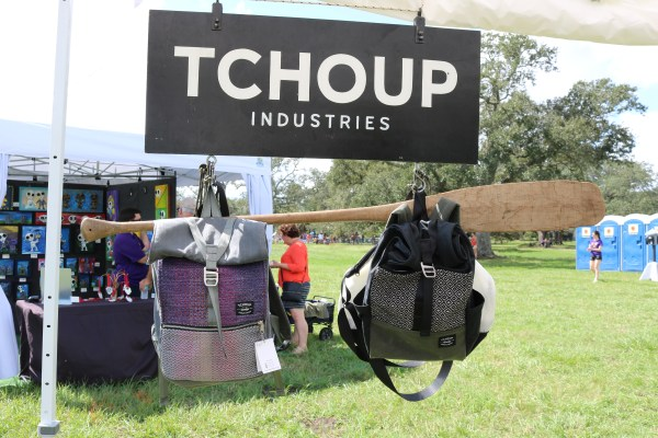 Tchoup industries is a local business here in new orleans that makes awesome bags. These bags were showcased at the beignet festival! You can snag these as gifts all while listening to live music and enjoying delicious at this free festival.
