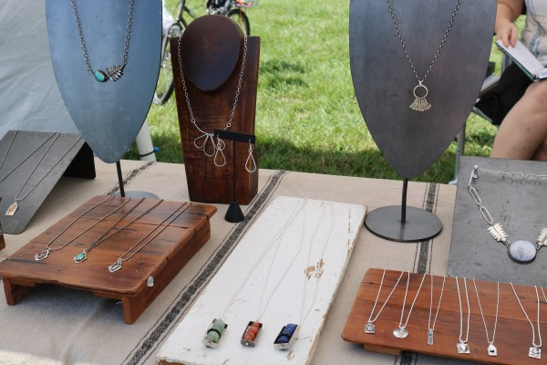 Check out some local businesses jewelry here at the beignet festival. A free festival that not only showcases a variety of different beignets but live music and amazing artwork. Check out this free festival and others over adventuresofb2.com