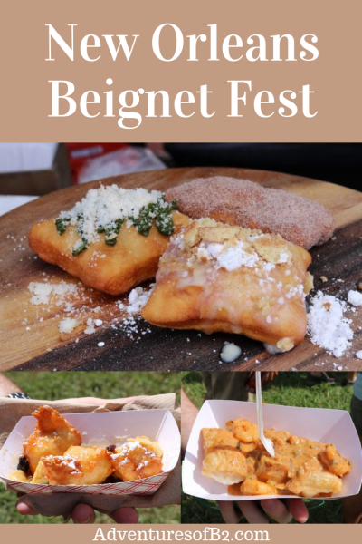 Beignet festival is one the top New Orleans Festivals. Come enjoy the music, food and artwork of local New Orleans businesses along with all sorts of different varieties of savory and sweet beignets. See more information at adventuresofb2.com