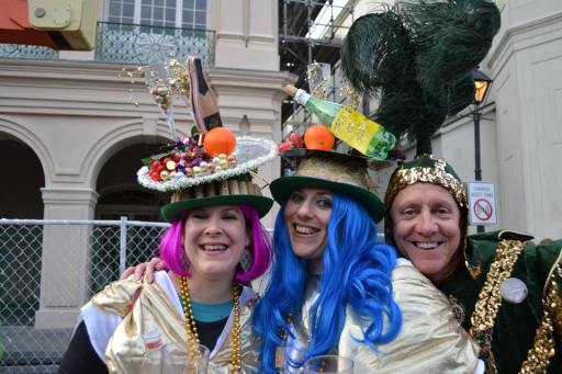 Amazing costumes like these costume scour the city during Mardi Gras in New Orleans. Get your ultimate guide for surviving Mardi Gras over at adventuresofb2.com