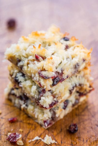 cranberry bliss 7 layer bars from averie cooks