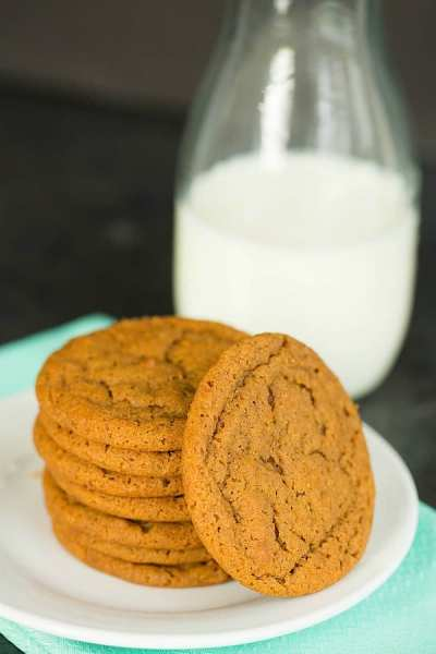 soft-chewy-gingersnap cookies from brown eyed baker