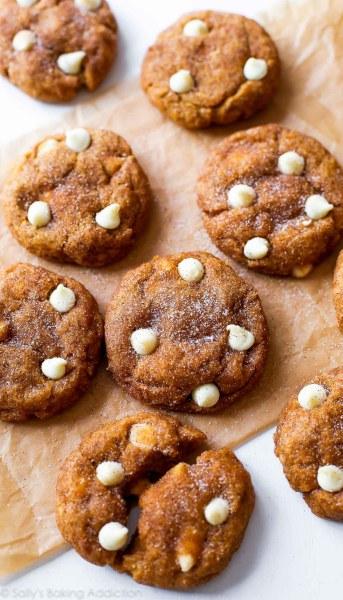 white chocolate pumpkin-snickerdoodles from sallys baking addiction