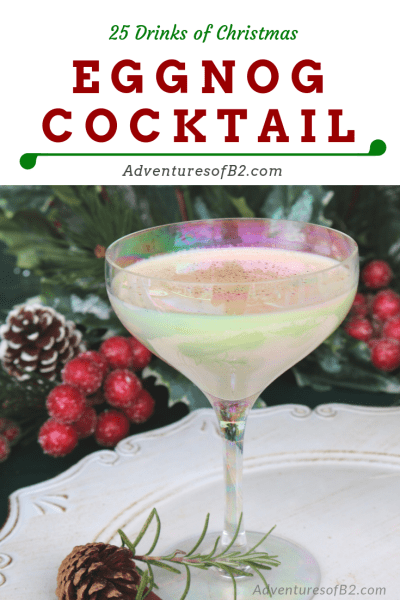Eggnog Cocktail is a classic cocktail that combines flavors of eggnog, amaretto, and vodka. A perfect holiday dessert martini #holidaydrinks #christmascocktails