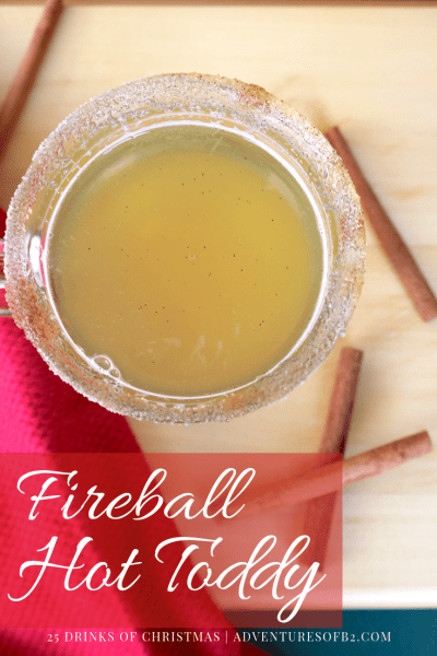 Find warmth the winter season in this deliciously soothing cocktail Fireball hot toddy is filled with fireball, lemon and honey making it the ultimate cure for winter blues! #christmasdrinks #holidaycocktails #hottoddy #fireball