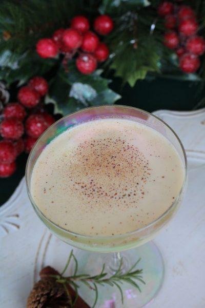 Eggnog Cocktail is a classic cocktail that combines flavors of eggnog, amaretto, and vodka. A perfect holiday dessert martini