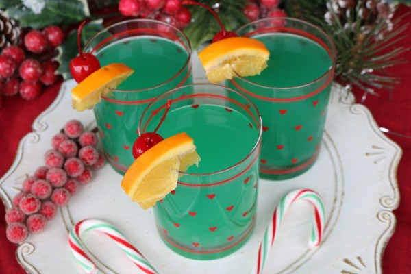 The grinch cocktail is a light fruity cocktail perfect for getting you in the holiday spirit. Serve them up to your friends at your next Christmas party!
