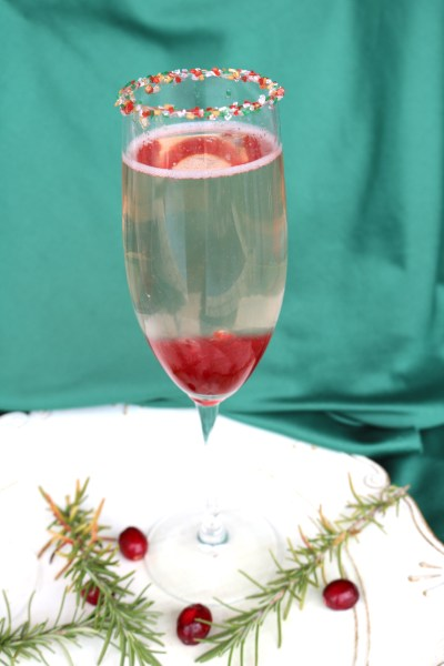 a delightful romantic champagne cocktail. Cranberry ombre cocktail is perfect drink to share with your partner!