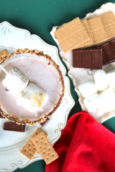 S'mores martini is a creamy dessert cocktail that tastes just like a s'mores! with flavors of marshmallow, chocolate and graham, it's bound to be a hit at your next holiday party!