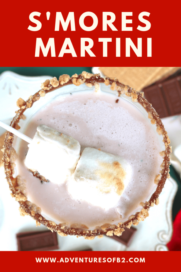 S'mores martini is a delicious creamy dessert cocktail that tastes just like a real s'mores. Wow your guests at your next holiday party with these tasty Christmas drinks! #christmasmartini #holidaycocktails #smores