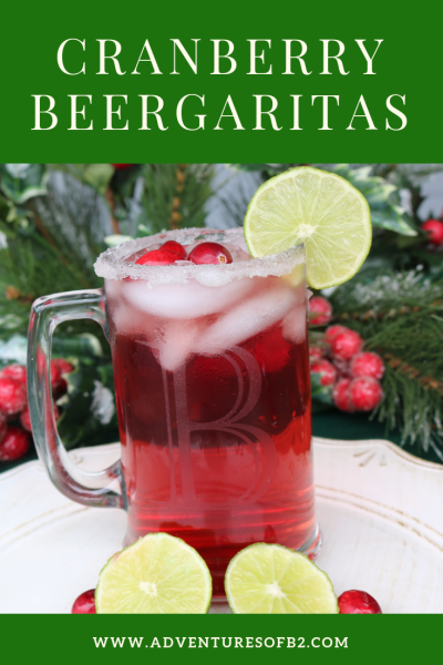Cranberry Beergaritas is a nice twist to the traditional margarita! For every margarita lover, this cranberry margarita will be a hit for your Christmas party! #christmas drinks #margaritas #holidaycocktails