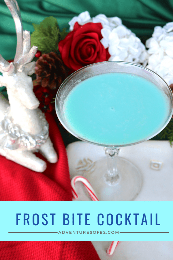 frost bite cocktail is a creamy dessert cocktail with a bit of a bite! Made with tequila, cream of coconut, creme de cacao and cream, it's the ultimate holiday cocktail for this winter season! #winterdrinks #christmascocktails #holidaycocktails
