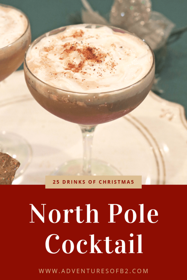 The North Pole Cocktail is like Christmas in a cup! Full of creamy chocolate, with hints of cinnamon, vanilla and coffee. The ultimate christmas drink this holiday season! #christmasdrinks #holidaycocktails