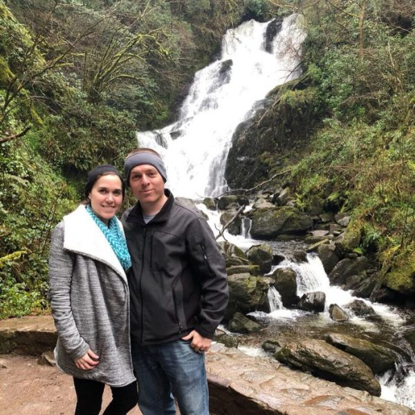 Don't forget to stop and walk around at the many hiking spots along the Ring of Kerry on your Ireland road trip. There are many places to see even the Torc waterfall- Adventuresofb2.com