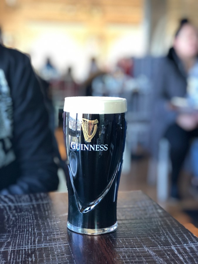 First stop on your Ireland road trip is Dublin. What better then to start with the world famous Guinness Brewery! Take a tour of this massive multi-story building and at the end grab a pint of a Guinness beer - Adventuresofb2.com