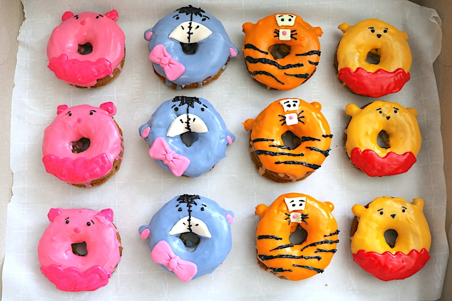 Capture the magic of all your favorite childhood friends with these Winnie the Pooh donuts! Piglet, Eeyore, and tigger too join in on the fun with these adorable doughnuts! Learn step by step how to make these Winnie the Pooh donuts at adventuresofb2.com