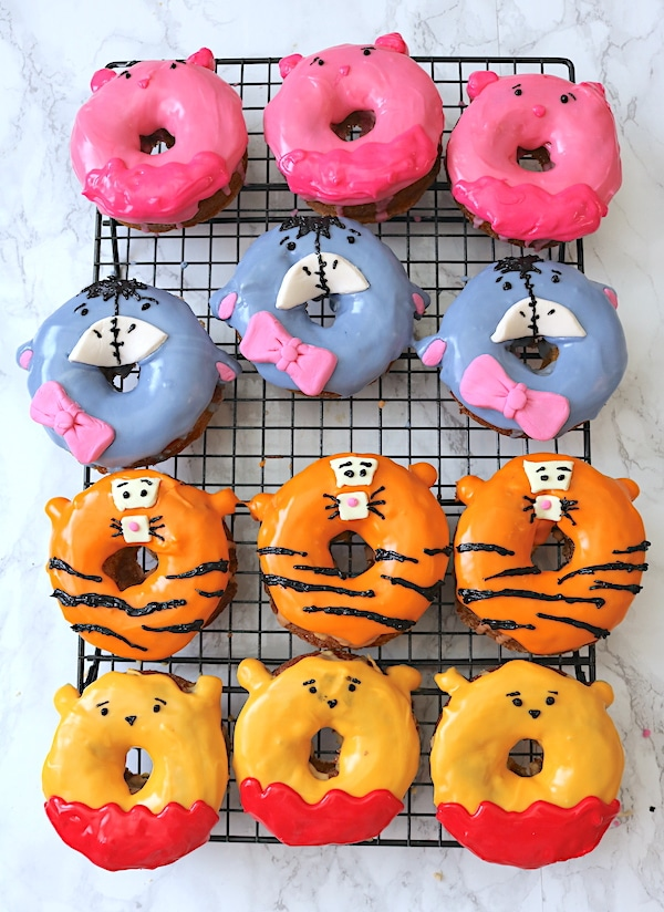 Watch your child's face light up when you sere them the most adorable donuts! These Winnie the Pooh donuts include all his friends including Piglet, Eeyore, Tigger and of course Winnie the Pooh. Learn how easy it is to make them with these step by step instructions! - adventuresofb2.com