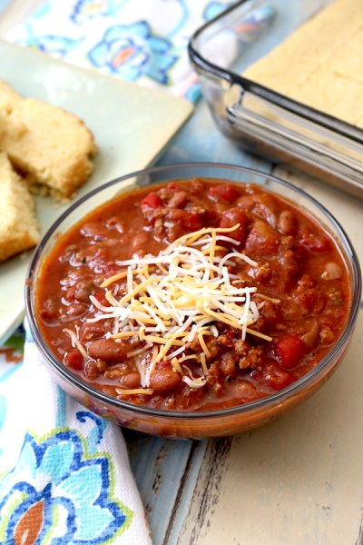 This chili recipe will have everyone asking you for the recipe! Its thick, chunky, full of flavor and just the right amount of spice. Filled with meats, beans, and vegetables, making it the ultimate comfort food and a crowd pleaser! - adventures of b2