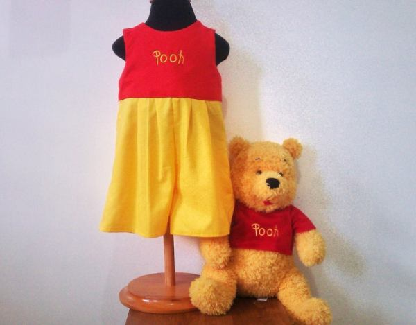 Celebrate your little boys birthday with this adorable winnie the pooh themed outfit! Get it off etsy and find other ideas for completing your winne the pooh party here at adventuresofb2.com