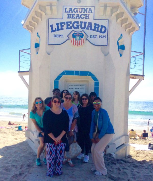 Food tour in front of lifeguard tower
