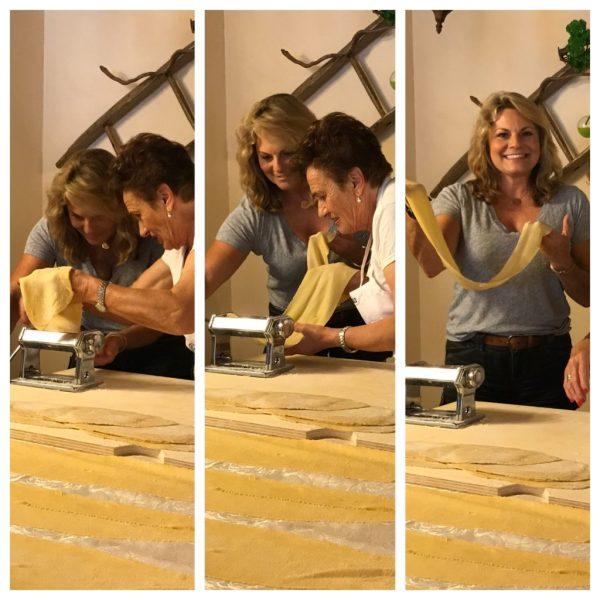 making lasagna noodles at an Italian cooking school