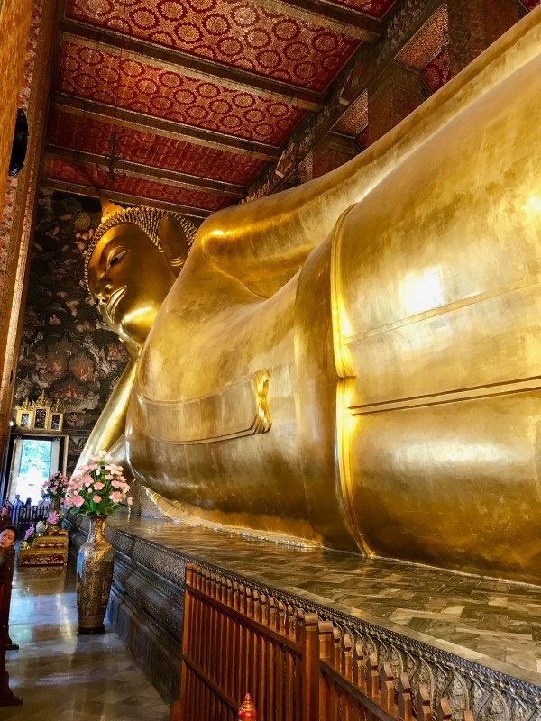 Seeing the Reclining Buddha is one of the Ten reasons to visit Thailand.