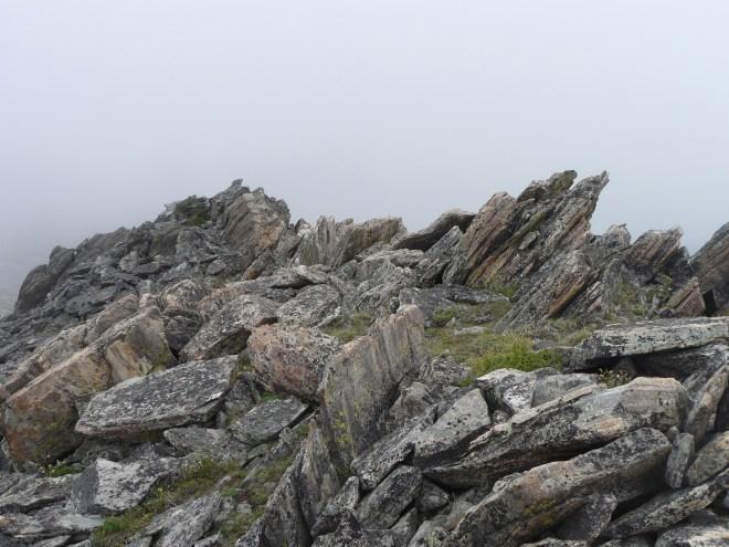 Rocks near Hesse Mountain summit.