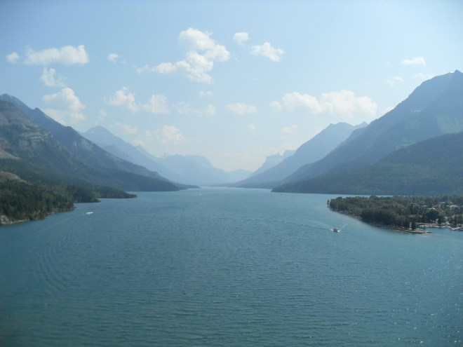 Upper Waterton Lake from the Prince of Wales Hotel. Looks like a great place to own a boat!