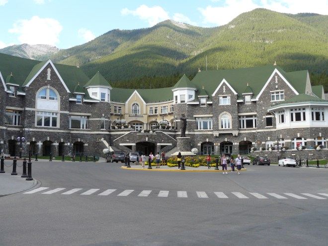 A section of the Banff Springs Hotel.
