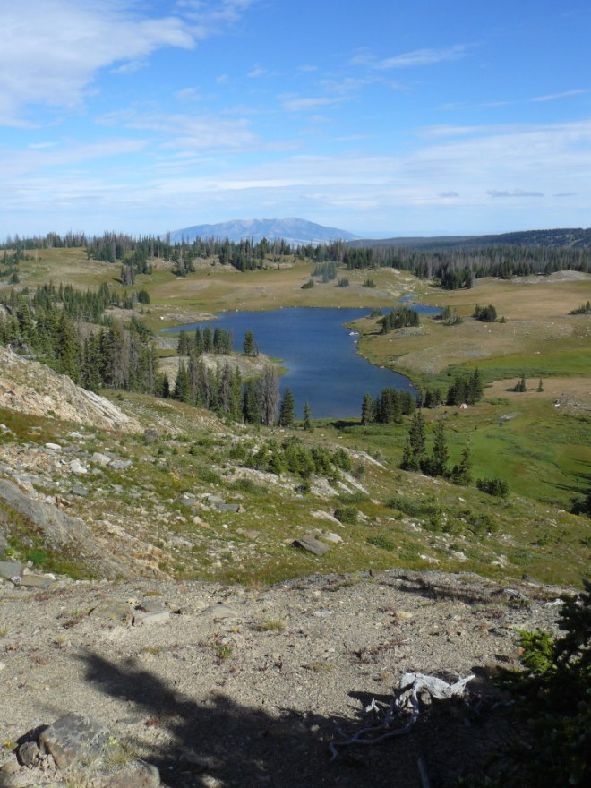 Crescent Lake and Elk Mountain from N of Browns Peak.
