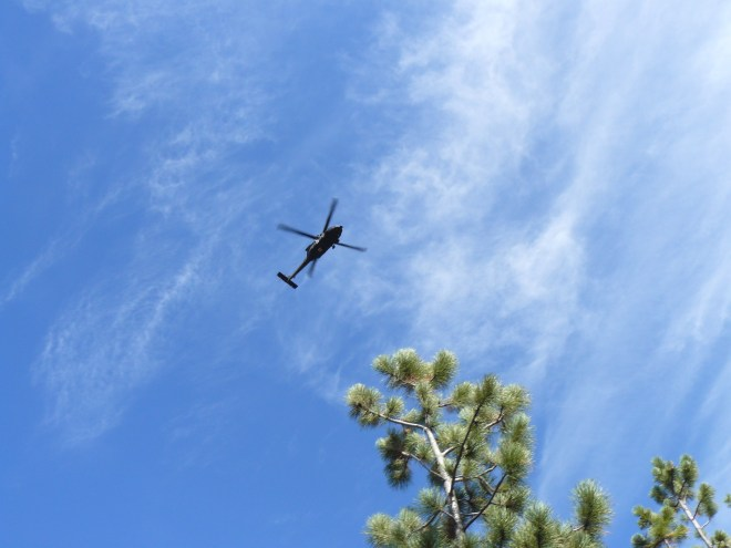 Helicopter near White Tail Peak 9-19-15