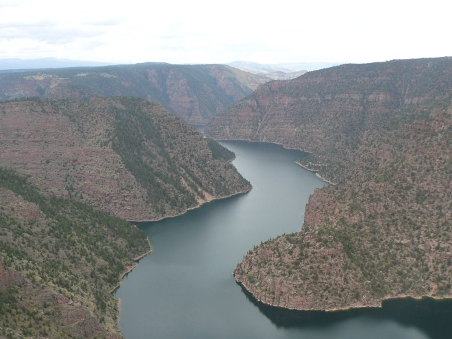 Looking upstream from the Red Canyon Lookout.