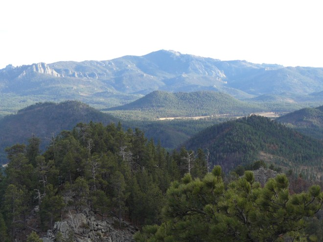 Harney Peak from South Point. Photo looks S.