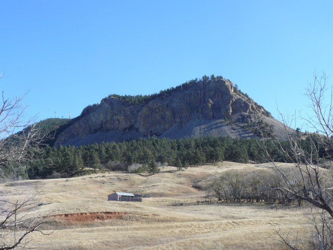 The most rugged parts of Sundance Mountain are to the N and W. This photo was taken from the W.