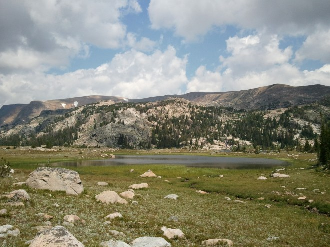Looking N along the Beartooth High Lakes trail.